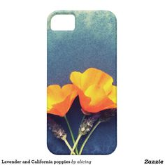 Lavender and California poppies iPhone SE/5/5S Case