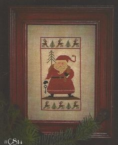 Primitive Folk Art Cross Stitch Pattern:  WHERE'S RUDOLPH.