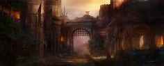Entrance to the City of Citwell  Gate from the book Arena Games: Legend of Petrova, or the Arena Games Series