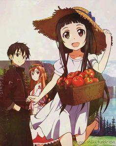 Asuna Kirito and Yui