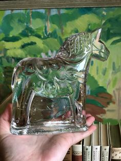Excited to share this item from my #etsy shop: XL Swedish dalahäst dala horse crystal glass figurine lindshammar glassworks Glass Figurines, Etsy Shop, Horses, Crystals, Cool Stuff, Vintage, Horse, Crystals Minerals, Crystal
