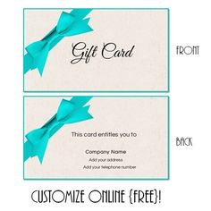 Free Printable Gift Certificate Templates  Business