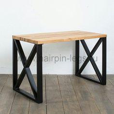"""Рабочий стол """"XO"""" в индустриальном стиле, столешница из массива дуба. Размер столешницы - 120см х 60см, высота стола - 75см. Так же возможно изготовление на заказ по индивидуальным размерам. Изготовим для Вас и при необходимости организуем доставку. #лофт #столлофт #обеденныйстол #стол #барныйстол #минимализм #индустриальныйстиль #мебельлофт #мебельдлябаров #мебельдляресторанов #мебельназаказ #лофтинтерьер #слэб #loft #table"""
