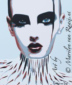 © #Art #Painting #Kunst http://nl-nl.facebook.com/pages/Marilyn-van-Raaij-Moderne-kunst/179801248743795?sk=wall_data   Marilyn van Raaij from The Netherlands #Woman #face #vrouw #gezicht #powerwoman  #popart