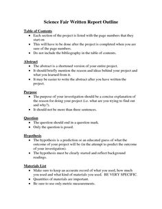 outline for research paper for science fair  science fair essay outline for research paper for science fair