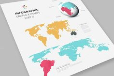 World map infographic template jigsaw concept infographics infographic world map templates graphics collection of word maps minimalistic flat design globe and world map made from dots other by orson gumiabroncs Images