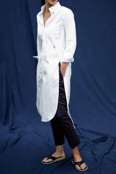 【ELLE SHOP】【予約販売】B.D. シャツワンピースホワイト|マディソンブルー(MADISONBLUE)|エル・ショップ