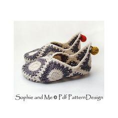 GRANNY SQUARE ELF SLIPPERS