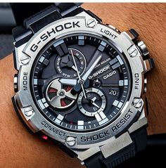 Casio is one of our favorite watch brands for men. We provide you with a huge variety of men's Casio watches ranging from vintage ones to newer models. Here you will find models such as the G-shock, W & others. Buy your first CASIO watch NOW! High End Watches, Big Watches, Dream Watches, Stylish Watches, Casual Watches, Luxury Watches For Men, Cool Watches, Unique Watches, G Shock Watches Mens