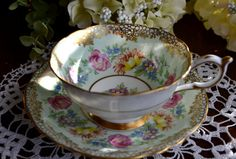 Paragon Fine Bone China Tea Cup and Saucer Mint by LaBellaVintage, $37.99
