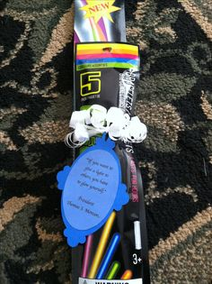 Secret sister gift for YW camp. Glow sticks with a quote from President Monson