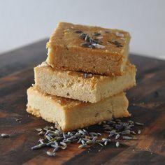 Lavender-Sea Salt Shortbread Recipe Desserts with all-purpose flour, corn starch, sugar, unsalted butter, kosher salt, honey, vanilla extract, dried lavender, sea salt