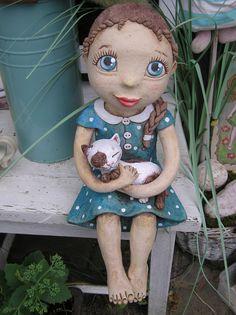 Panenka na přání podle instrukcí Clay Dolls, Art Dolls, Ceramic Pottery, Ceramic Art, Salvador Dali Artwork, Polymer Clay Fairy, Clay Fairies, Ceramic Figures, Pottery Classes