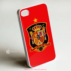 Spain Logo Brazil Fifa World Cup 2014 iPhone 4,4s Case White Cover