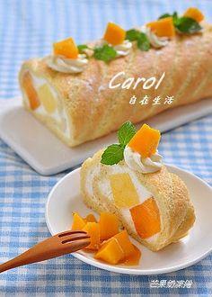 Carol 自在生活 : 芒果奶凍捲