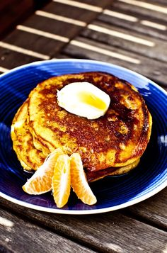Orange, Cinnamon, Yoghurt Pancakes.  Baker's Notes:   ease: 5/5.  prep time: 5mins.  cooking time: 6mins each.  total: 17mins.    taste: 4/5. A stroll down Summer's lane.    These pancakes were delicious. I adored the tang of the yoghurt with the bright citrusy hit of orange that made these pancakes feel Summery. I also added a dash of cinnamon for some extra spice.      would I make it again: Yes.