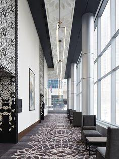 Loews Chicago Prefunction - Ceiling & Metal Art