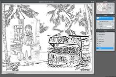 pixlr tutorial on how to turn photographs into coloring pages for kids!