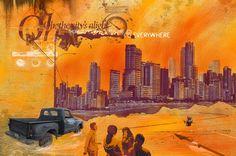 Muro giallo elaborazione grafica di Cristiano Pancani