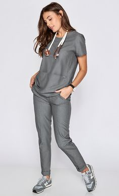 Satara Trouser Scrub Pant - Our most polished pant yet, the Satara pant features a flattering slim fit that keeps your scrubs looking as sharp on the outside as you are on the inside.