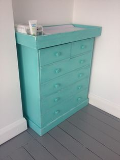 Aqua baby changing table