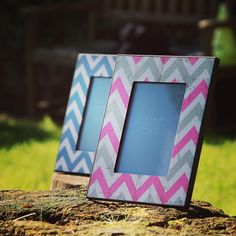 Awesome geometric photo frames by Chickidee. Share pictures of loved ones in style. Loads of colours and styles in our shop! #yaymayo #homeware #geometric #photoframe
