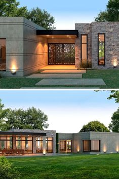 Modern house plans are more than architecture; Modern House Floor Plans, Modern Bungalow House, Modern House Facades, My House Plans, Modern Architecture House, Architecture Design, House Front Design, Small House Design, Modern House Design