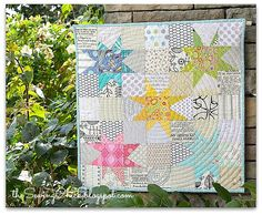The Sewing Chick: Finished Quilts - Wonky Star Mini Quilt Star Quilts, Scrappy Quilts, Mini Quilts, Quilt Blocks, Star Blocks, Children's Quilts, Girls Quilts, Quilt Kits, Quilting Projects