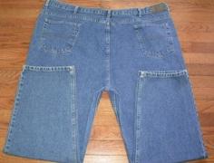 BIG MENS 52x30 IZOD blue DENIM JEANS pants CLASSIC FIT, EUC!