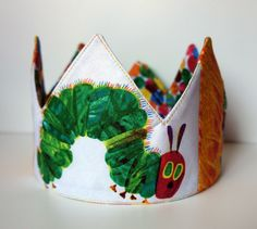 Very Hungry Caterpillar Birthday Crown - Adjustable Patchwork