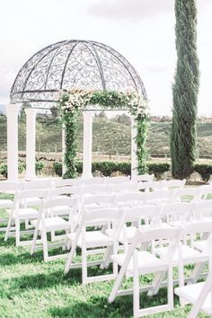 Find inspiration for your future nuptials from this bright vineyard wedding. See the full California celebration on PartySlate. #weddingideas #dreamwedding #weddinginspo Wedding Ceremony Decorations, Wedding Aisles, Spring Wedding, Dream Wedding, Temecula Wedding Venues, Burgundy And Blush Wedding, Grape Plant, Vineyard Wedding, Weddingideas