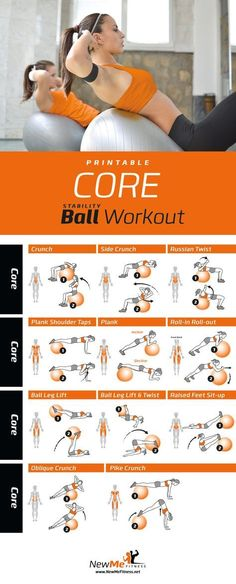 Stability ball core workout, abs are soooo sore! - Stability ball core workout, abs are soooo sore! Stability ball core workout, abs are - Pilates Training, Pilates Workout Routine, Ab Core Workout, Ab Workout At Home, At Home Workouts, Butt Workout, Core Training Exercises, Core Workouts, Dumbbell Workout
