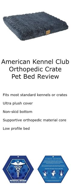 American Kennel Club Orthopedic Crate Pet Bed Review