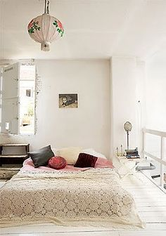 fresh bedroom - love the colors