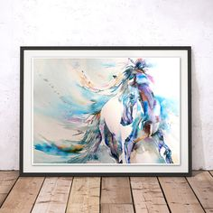 Horse Print Horse Wall Art Stallion Painting Horse