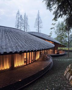 in rural daoming, a town in #china's sichuan province, archi-union has completed 'in bamboo', a multi-functional cultural center shaped…