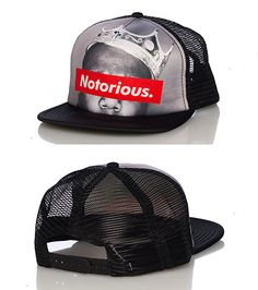 BROOKLYN MINT Notorious BIG snapback cap Mesh detail on sides Biggie crown  graphic on front Adjustable strap on back fa8ee3c45002