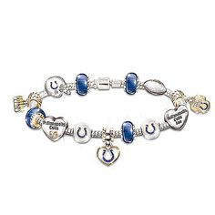 Go Colts! #1 Fan Charm Bracelet