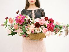 Moody Marsala Editorial on Green Wedding Shoes.  Floral: The Southern Table | Planning and Design: Birds of A Feather | Photo: Charla Storey Photography | MUAH: Beauty and The Blush | Dress and Skirt: Watters