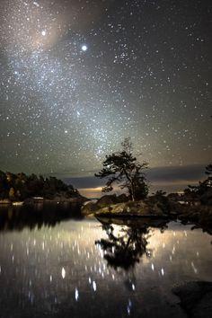 ~ Noche de octubre estrellada noche estrellada por Tore Heggelund