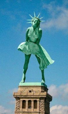 Très Top 11 des détournements rigolos de la statue de la liberté  LG59