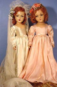 bride and bridesmaid dolls  I had the bride doll.  I think she was either Madame Alexander or Horseman.  I still have her in 2013!!