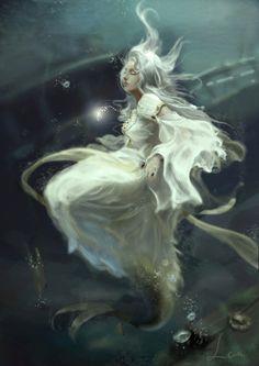 ♒ Mermaids Among Us ♒ art photography paintings of sea sirens & water maidens - Lan Lee