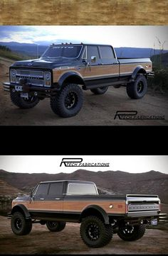 The Duke, a 1972 Chevy crew cab, with a face lift for a different look. Rend… The Duke, a 1972 Chevy crew cab, with a face lift for a different look. Rendering by RenderRides 67 72 Chevy Truck, Custom Chevy Trucks, Gm Trucks, Diesel Trucks, Lifted Trucks, Cool Trucks, Pickup Trucks, Dually Trucks, Chevy 4x4
