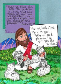 He is the Good Shepherd, and we are the sheep of His pasture.  www.thegoodnewscartoon.com **Facebook: The Good News Cartoon**