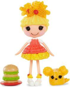 "4 Lalaloopsy Mini Dolls Lot /""YUMMY COLLECTION/"" Burger~Fries~Pizza~Ice Cream Set"