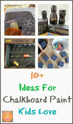 10  Ideas For Chalkboard Paint Kids Love by FSPDT Can also make great gift ideas for kids
