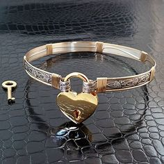 BDSM Submissive Locking Day Bondage Collar, Sterling Silver with Gold Filled Accents, Soft and Sweet, Floral, Romantic * Want to know more, click on the image.
