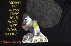 Afro Curly Tshirt Marcus Garvey T-shirt curly hair tee – QuorArtisticTshirts