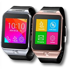 Indigi SWAP2 (Smart Watch And Phone) GSM Unlocked + Bluetooth Sync SmartWatch For Android Galaxy Smart Phone S6 Edge Note 4 iPhone 6 6+ 5s (Silver). GSM Unlocked phone that can be used from anywhere across the world. works with any gsm wireless carries in the world such as at&t, t-mobile, straightalk, Orange, Vodafone, you name it. You can stick in your GSM micro SIM-card and you can gain instant access to an amazing communication device that works like a cell phone on your wrist. Connect…